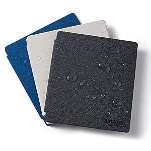 Amazon - Étui en tissu résistant à l'eau avec support intégré pour Kindle Oasis (9ème génération - modèle 2017), blanc