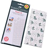 Faber-Castell Reusable Removable Adhesive Putty, Poster & Multipurpose Wall Safe Sticky Tack (120 Pieces)