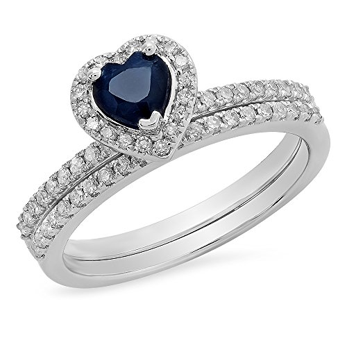 Diamond 18k White Gold Heart Ring - 3