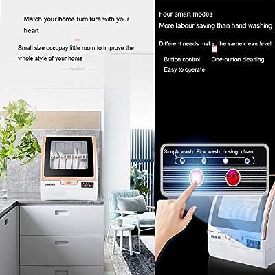 KASIQIWA Inteligente Lavavajillas Completamente automático, Mini ...