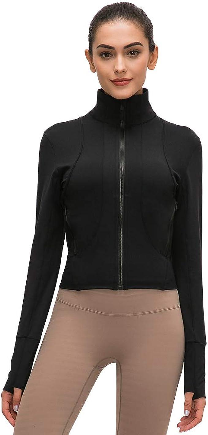 Amazon.com: TERODACO Workout Jackets for Women Lightweight ...