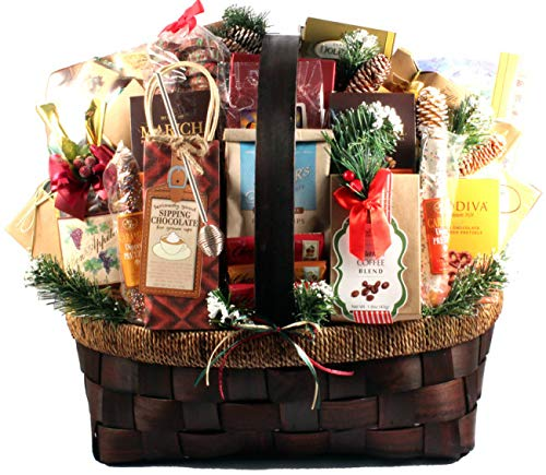 - The Grandest Celebration Gourmet Food Holiday Gift Basket - Size Deluxe