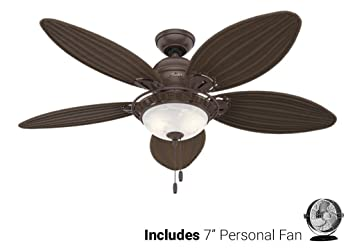 Hunter ceiling fan brown 54095 caribbean breeze 54 with light hunter ceiling fan brown 54095 caribbean breeze 54quot with light weathered bronze desk aloadofball Choice Image