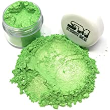 Stardust Mica Pigment Dust Cosmetic Grade Colorant for Makeup, Soap Making Dye, Nail, DIY Crafting Projects, Bright True Colors Stable Mica Batch Consistency Green Jade