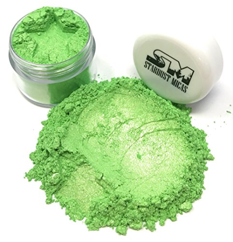 t Dust Cosmetic Grade Colorant for Makeup, Soap Making Dye, Nail, DIY Crafting Projects, Bright True Colors Stable Mica Batch Consistency Green Jade (Pigment Green)