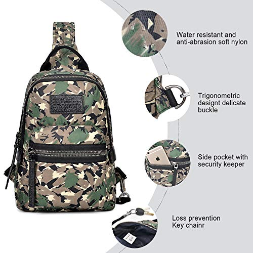 Women Army Men Backpack For amp; Bag Waterproof Wolfrealm Crossbody Shoulder Green Sling A8wvqv