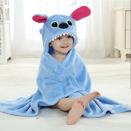 Stress Free Key Baby Hooded Blanket Towel - 6 Animals 6 Colors - Swaddle Fleece Blanket for Newborn Child - Good for Boys and Girls - Cute, wearable - Available - Costume Kate Hudson