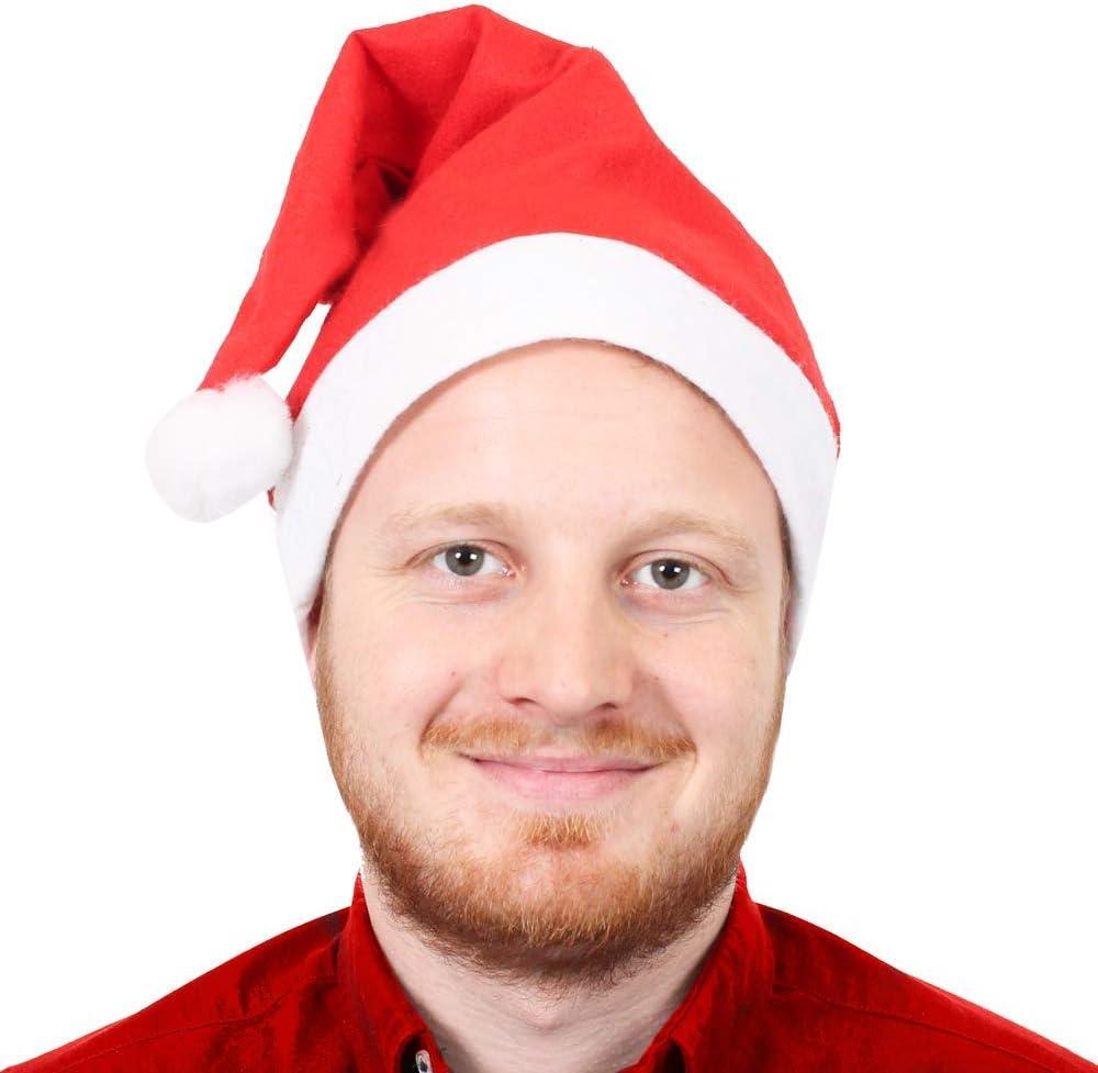 SANTA DOWN THE CHIMNEY HAT SNOWMAN HAT CHRISTMAS HATS PARTY PACK 4 PIECE MENS LADIES XMAS COSTUME FANCY DRESS ACCESSORY SET PRESENT HAT TURKEY HAT