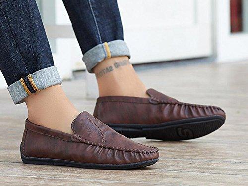 Ons Comfort para Zapatos Perezosos de de Do Otoño de Zapatos Caminar CAI Primavera Zapatos y Invierno Zapatos Hombre Hombres Verano de Ciclismo Slip 2018 Cuero Mocasines para Microfibra 6w4Uq8