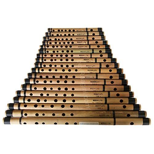 MAHARAJA Set of 18 Pcs Bansuri - Buy Indian Bamboo Flute Set (PDI-ABE) ()