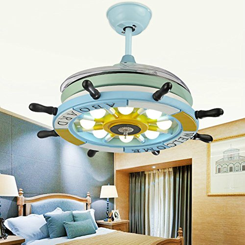 Lighting groups 42 inch blue ceiling fan lights pirate ship steering lighting groups 42 inch blue ceiling fan lights pirate ship steering wheel led fan chandelier for aloadofball Image collections