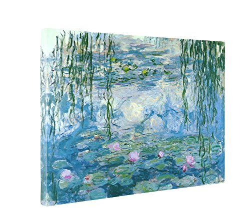 Niwo Art (TM - Water Lilies 1916-19, by Claude Monet - Oil Painting Reproductions - Giclee Canvas Prints Wall Art for Home Decor, Stretched and Framed Ready to Hang
