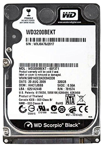 Western Digital Wd Scorpio Black Wd3200bekt - Hard