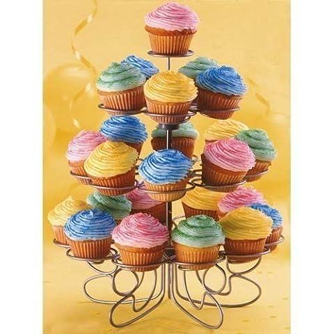Wilton Cupcakes `n More 24 Count 4 Tier Mini Dessert Stand Birthday Wedding