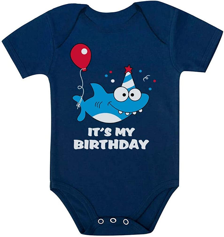Birthday Boy or Girl Shark Outfit 1st 2nd Birthday Gift Baby Bodysuit