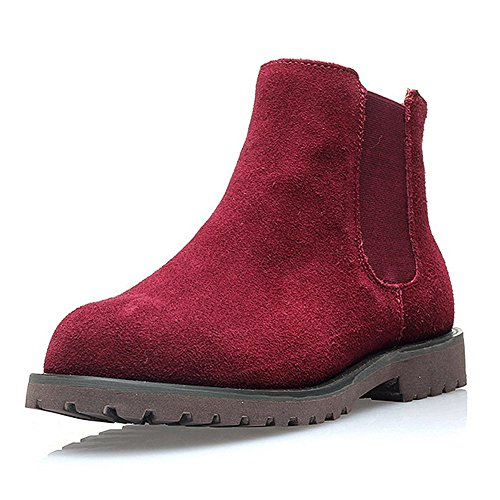 7 UK 3 6 PADGENE TOP 5 Red LOW 5 LEATHER WOMEN'S ANKLE CLEATED Wine BOOTS STYLE SIZE CHELSEA FLAT VINTAGE LADIES 4 NUBUCK 2 BOOTS SOLE SHOES gRWrSgqOaw
