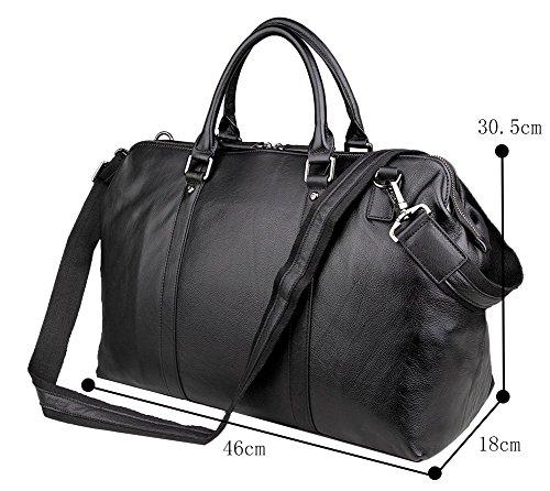 Genda 2Archer Mens Genuine Leather Overnight Travel Duffle Weekend Bag by Genda 2Archer