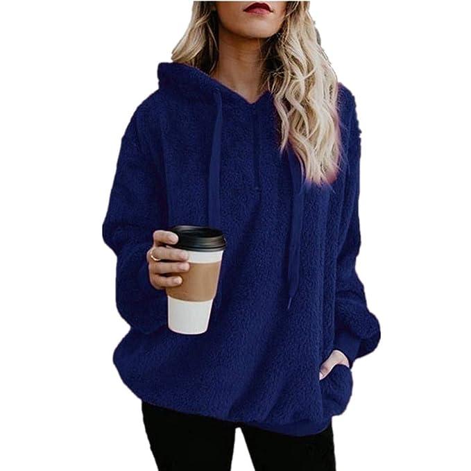 Amazon.com: Farjing - Chaqueta para mujer con capucha cálida ...