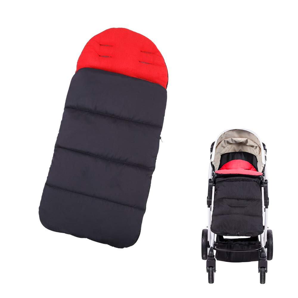Topwon Universal Stroller Sleeping Bag Baby Footmuff Sack for Pushchairs Waterproof, Windproof (Red)