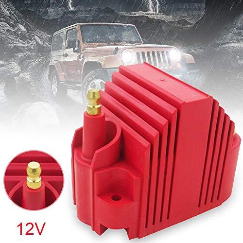 Rubyu Car Spark Plug Motor Spark Plug Ignition Coil Electronic Coil Ignition Device 12V: