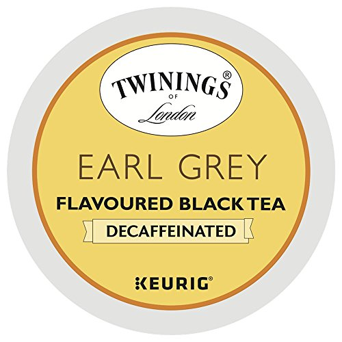 Twinings Earl Grey Decaffeinated Tea, K-Cup Portion Pack for Keurig K-Cup Brewers, 24-Count (Pack of 2)