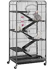 Yahee kooi voor volwassenen ratten konijnen frettje Chinchillas 64 x 43,7 x 131,2 cm