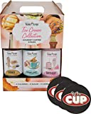 Jordans Skinny Syrups Sugar Free Ice Cream Collection Trio Gift Box 12.7 Ounce Bottles with By The Cup Coasters