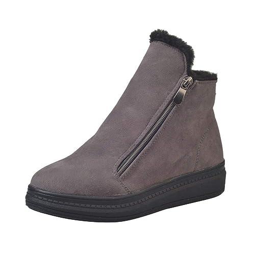 OHQ Botas Tacones Bajos Invierno Flockr Mujer Botas De Nieve Botines para Mujer Zapatos: Amazon.es: Zapatos y complementos