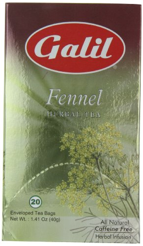 Galil Tea, Fennel, 20-Count Boxes (Pack of 6)