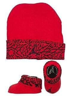 c833745a84ed Amazon.com  Nike Air Jordan Elephant Print Hat   Booties Set 0-6 ...