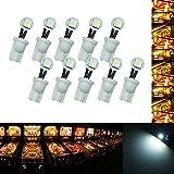 PA 10PCS #555 T10 1SMD Fold LED Wedge Pinball Machine Light Side View Bulb White-6.3V
