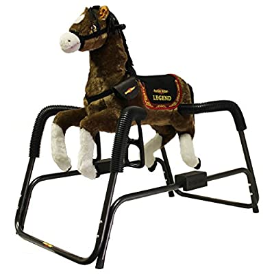 Rockin' Rider Legend Animated Plush Spring Horse: Toys & Games