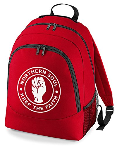 Rucksack The humour Bag Backpack silly Faith keep Soul Northern Unisex Red W8nU66