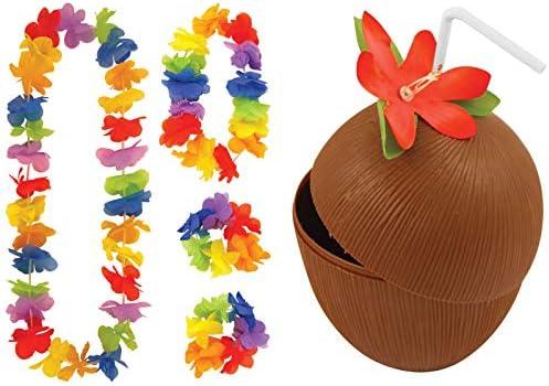 Labreeze - Juego de 4 Vasos de Coco con Pajita y Accesorios para ...