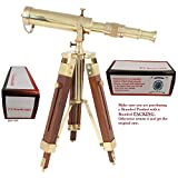 US HANDICRAFTS Vintage Brass Telescope on Tripod Stand use DF Lens Antique Desktop Telescope for Home Decor & Table Accessory Nautical Spyglass Telescope for Navy and Outdoor Adventures..............