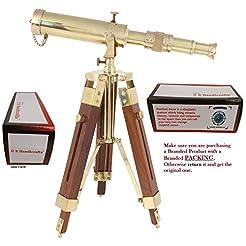 US HANDICRAFTS Vintage Brass Telescope o...