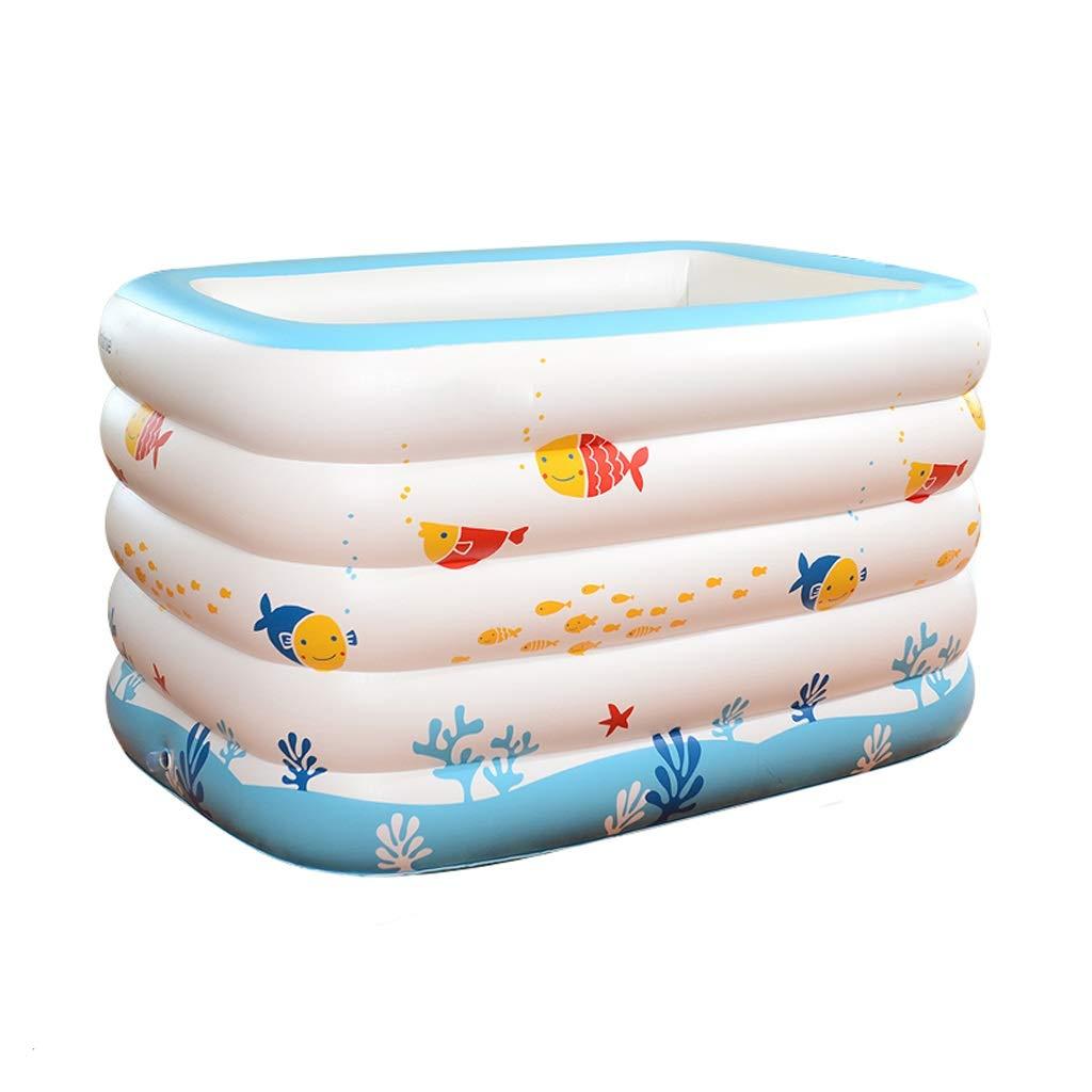 Inflatable bathtub ZHAOSHUNLI Swimming Pool Infant Indoor Baby Insulation Children Thickening Newborn Bath Tub (Color : Cartoon Fish White Sponge Bottom)