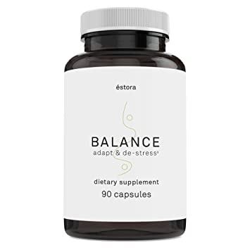 Balance Whole Food Adrenal & Stress Support Supplement to Promote Mental Clarity, Calmness, Focus
