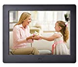 Digital Photo Frame 8 inch Hi-Res Digital Picture Frames Video Frame Player 1024 x 768 High Resolution with Remote Control Black