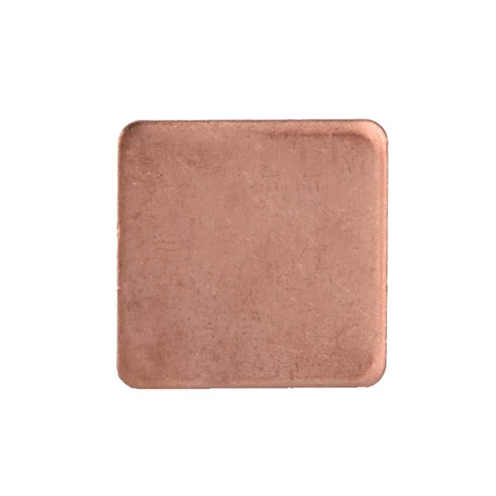 fosa 2020mm Copper Sheet Shim Piece Heatsink Copper Shim Thermal Pads for Laptop GPU CPU 10pcs (0.3 mm)