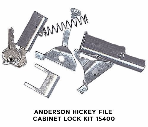 Anderson Hickey File Cabinet Lock Kit 15400 (Plunger Lock For Cabinet File)