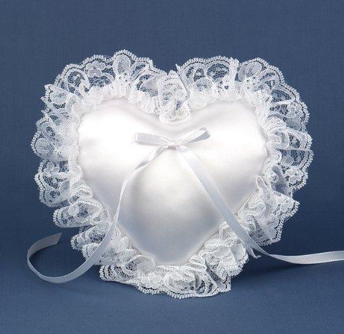- White Mini Heart Pillow - 374677