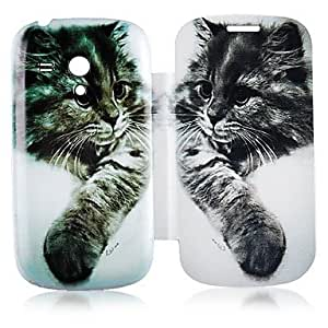 RC - Cat Pattern Leather Full Body Case for Samsung Galaxy S3 Mini I8190