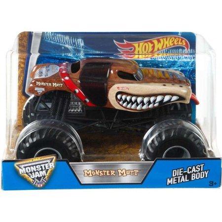Hot Wheels Monster Jam Monster Mutt Vehicle, 1:24 Scale
