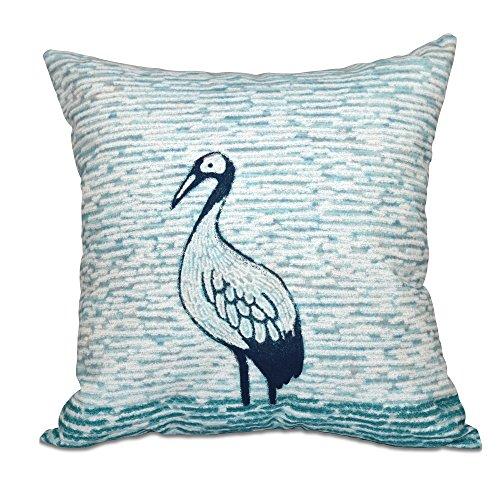 E by design O5PAN458BL12-20 20 x 20'' Bird Watch Animal Print Green Outdoor Pillow by E by design