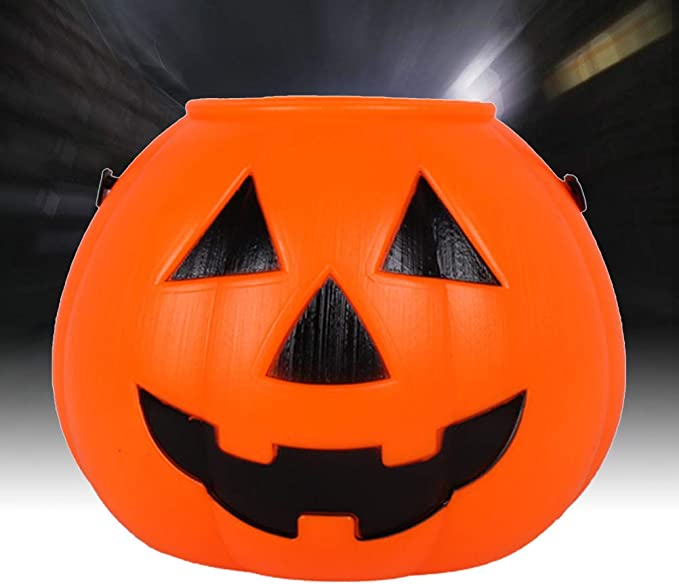 Amosfun Halloween Candy Bucket Glowing Pumpkin Bucket Portable Pumpkin Prop For Halloween Party Supplies Amazon Ca Home Kitchen