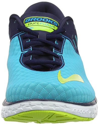 Brooks PureFlow 6, Scarpe da Corsa Donna Multicolore (Bluebird/Peacoat/Limepunch)
