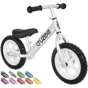 Cruzee UltraLite Balance Bike (4.4 lbs) for Ages 1.5 to 5 Years | Best Sport Push Bicycle for 2, 3, 4 Year Old Boys & Girls– Toddlers & Kids Skip Tricycles on the Lightest First Bike 1 – Silver