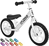Cruzee Ultralite Balance Bike (4.4 lbs) for Ages 1.5 to 5 Years | Best Sport Push Bicycle for 2, 3, 4 Year Old Boys & Girls– Toddlers & Kids Skip Tricycles on The Lightest First Bike – Silver