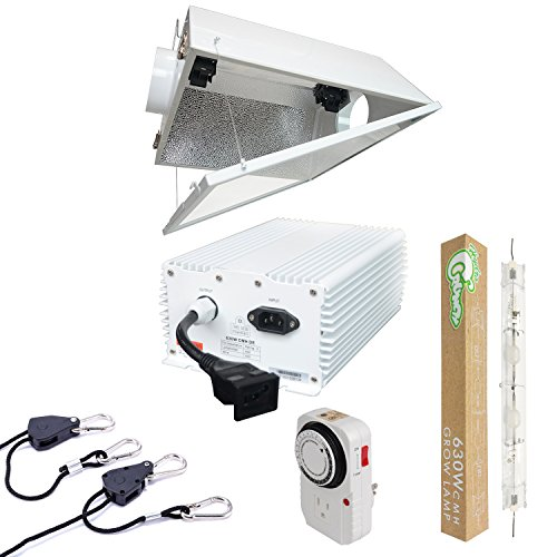 Hydro Crunch 630-Watt DE CMH Grow Light System with Double Ended Large Air Cooled Reflector